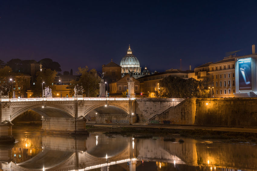 Vatican City City Travel Destinations Night Government Politics And Government Cityscape Façade Illuminated Architecture Sky Arrival Bridge - Man Made Structure Outdoors No People History Business Finance And Industry Luminosity Astronomy EyeEm Rome Italy🇮🇹 EyeEm Best Shots EyeEm Masterclass Ancient History Bridge Moving Around Rome