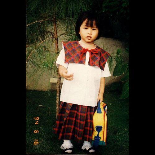 If it weren't for the lace, I'd say I look like a boy. Hahaha Kindergarten PAREF Rosemont Uniform ThrowbackThursday TBT