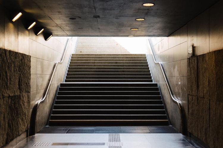 Staircase At Underground Walkway