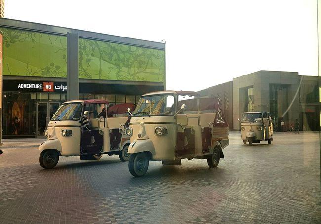 The tricycle here in Dubai Jbrwalk Taking Photos Enjoying Life Mytravel Transportation Photooftheday