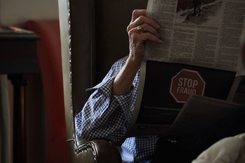 Senior Adult Reading Newspaper Indoors  One Person Real People Lifestyles Home Interior Midsection Communication Text Relaxation Leisure Activity Holding Sitting My Best Photo