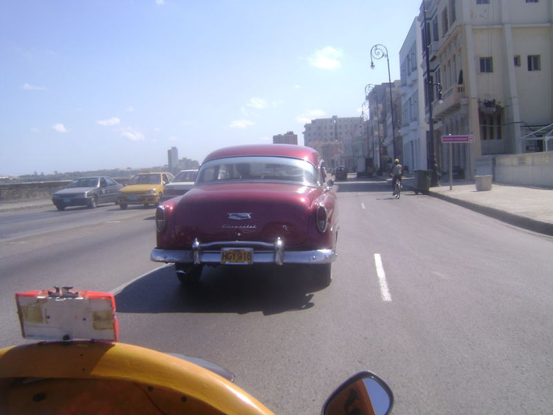 Coco Taxi Havanna, Cuba La Habana Malecon Architecture Building Exterior Built Structure Car City Day Land Vehicle Mode Of Transport One Person Outdoors People Road Sky Street Sunlight Transportation Been There.