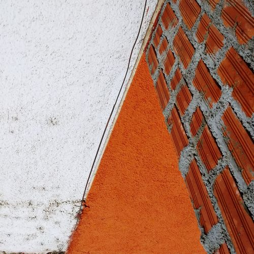 High angle view of building wall