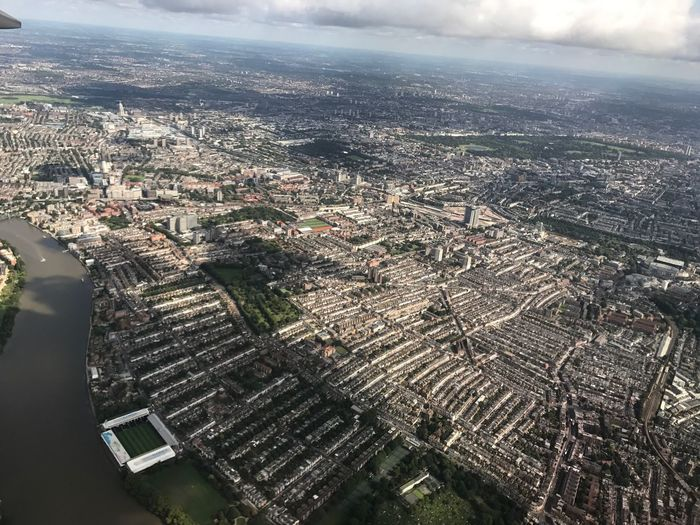 Fulham from the air London River Thames Craven Cottage Fulhamfc Fulham Aerial View Building Exterior Cityscape Architecture City Water High Angle View