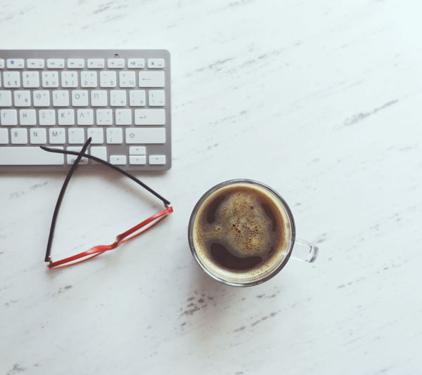 Coffee - Drink Coffee Cup Computer Computer Keyboard Desk Drink Keyboard Table Technology