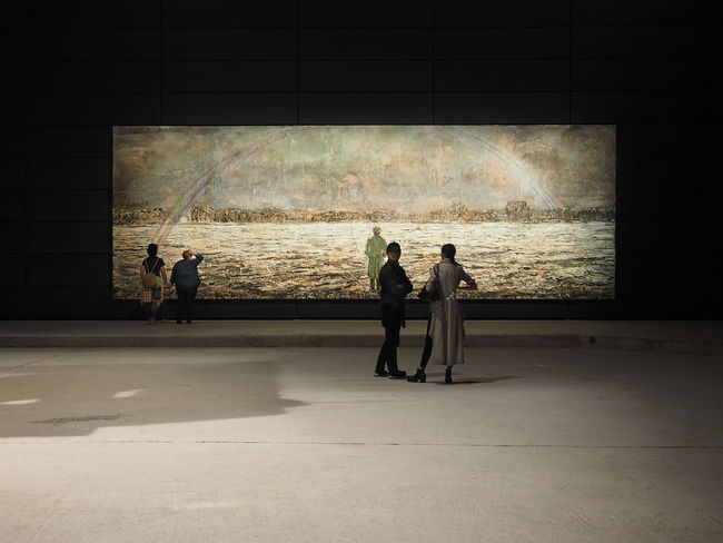 Pirelli Hangar Bicocca Foundation, The Seven Heavenly Palaces 2004-2017 permanent exhibition, site-specific works, dynamic center for art experimentation, Via Chiese street, Milan, Lombardy, Italy, Europe Anselm Kiefer ArtWork Artist Center Contemporary Art Foundation Hangar Horizontal Lombardy Milan Milan,Italy People Watching The Seven Heavenly Palaces Art Bicocca Contemporary Culture Exhibition Exhibition Center Hangarbicocca Indoors  Italy Museum People Pirelli