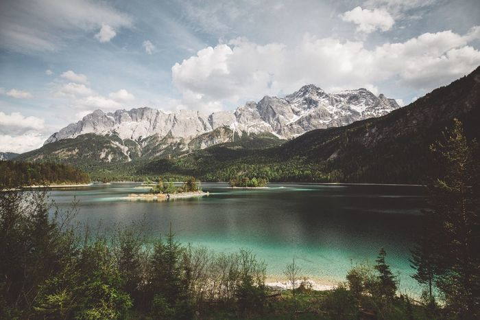 1000 souls of Lake Eibsee Mountain Landscape Nature Beauty In Nature Sky Mood Captures Tranquility Moody Phorexbyjaworskyj Werdenfels Weroamgermany Garmisch Bavarian Alps Bavaria Momentkeepers Outdoors No People Water Range Day EyeEmNewHere