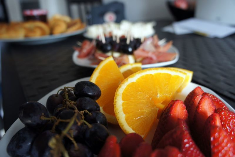 Breakfast Berry Fruit Blueberry Brunch Citrus Fruit Close-up Food Food And Drink Freshness Fruit Handmade Healthy Eating Indoors  Indoors  No People Orange Orange Color Plate Ready-to-eat SLICE Still Life Strawberry Table Temptation Wellbeing