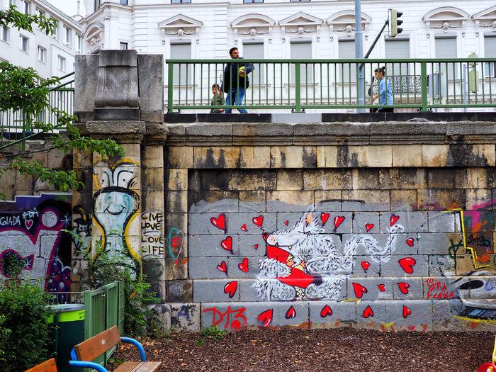 Graffiti on wall of building