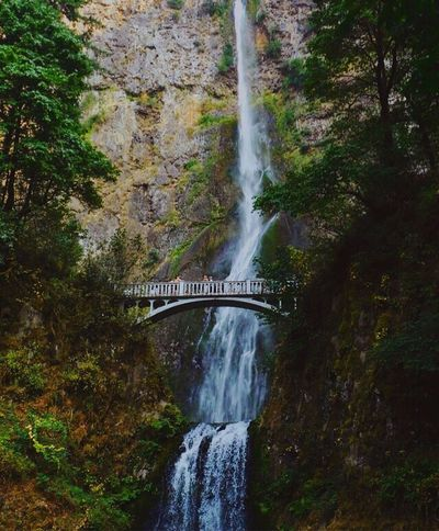 Lost In The Landscape Waterfall Motion Bridge - Man Made Structure Long Exposure Water Multnomah Falls  Flowing Water Nature Beauty In Nature Photography EyeEm Best Shots EyeEm Best Shots - Nature The Week On EyeEm Vscocam Vscogoodshot Forest