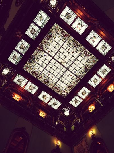 Castels Indoors  Low Angle View Ceiling Window No People Architecture Day