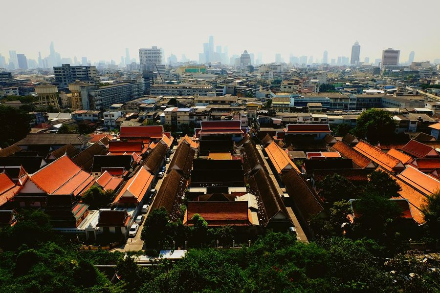 EyeEm Selects Skyscraper Architecture Building Exterior Urban Skyline Cityscape High Angle View Outdoors City Religion Travel Buddha Temple Buddha Temple, Thailand Travel Destinations Outdoor Photography