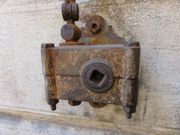 Alt Close-up Day Fotoapparat Markise Mechanic Old Outdoors Rost Rust Wand