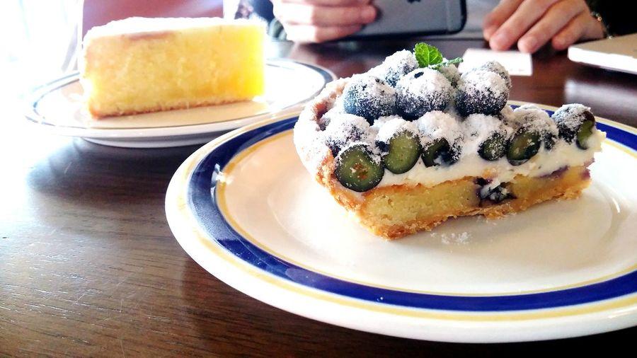 Blueberry Pie Fresh Lemon Tart Yummy Lovely Day
