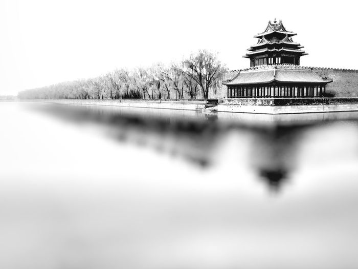 The Last Emperor's Blurry Reminiscence (A Corner of the Forbidden City) Chinese Culture Chinese Tradition Architecture Forbidden City Beijing IPhone Photography IPhoneography Moat Mobileography Motion Blur Royal Palace Beijing Showcase April Skyline Tourism Traditional Chinese Architecture Traveling Trees Water Water Reflections Black & White Blackandwhite Photography Monochrome The Great Outdoors With Adobe Fine Art Photography Pivotal Ideas