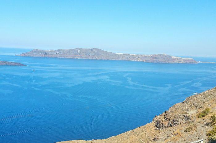 Perissa Santorini, Greece Thira(Fira) Santorini Blue Sea And Blue Sky Blue Sea Blue Water Walking Around Scenery