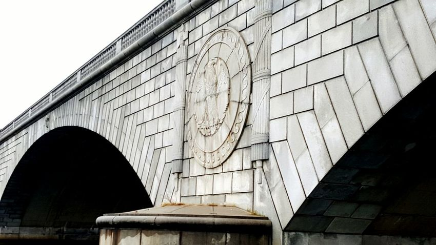Architecture City No People Low Angle View Built Structure Outdoors History Bridge - Man Made Structure Day Astrology Sign Washington, D. C. Washington United States Bridge Bridges Logo Bridge Over Water Bridge View Riverside River Bridge Photography