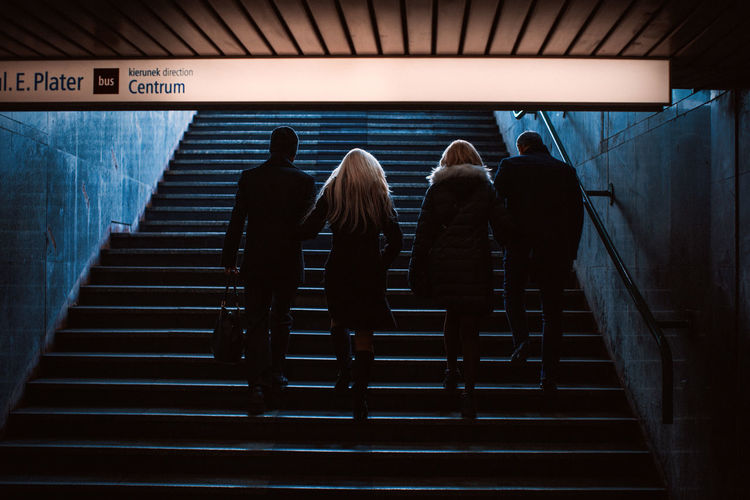 Hello World Poland The Week on EyeEm Adult Canonphotography Culture Day Full Length Hand Rail Illuminated Indoors  Leisure Activity Lifestyles Light And Shadow Men People Real People Rear View Staircase Standing Steps Steps And Staircases Women