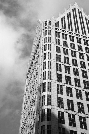 One Detroit Center & Sky Detroit The Graphic City Architecture Low Angle View Building Exterior Skyscraper Built Structure Outdoors Sky City
