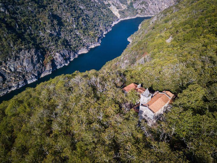 Lost In The Landscape Santa Cristina De Ribas de Sil, Ourense High Angle View Dji Sil River Ourense Ribeira Sacra River Galicia SPAIN Galiciameiga Nature Outdoors