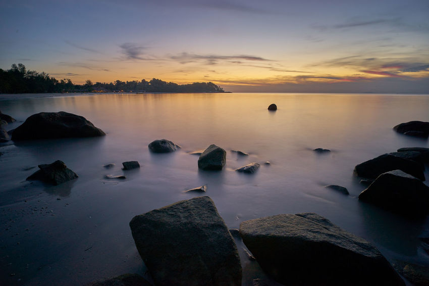 Rocks Beauty In Nature Cloud - Sky Day Horizon Over Water Manfrottobefree Nature No People Outdoors Rock - Object Scenics Sky Sonyalpha7ii Sunset Sunset #sun #clouds #skylovers #sky #nature #beautifulinnature #naturalbeauty #photography #landscape Sunset_collection Sunsetlover Tranquil Scene Tranquility Water Bintan