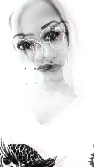 Blackandwhite Popular Photos HelloEyeEm EyeEm Best Shots EyeEm Gallery Only Women Eyeglasses  Portrait Futuristic