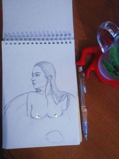 Drawing Sketch Skribbles Model