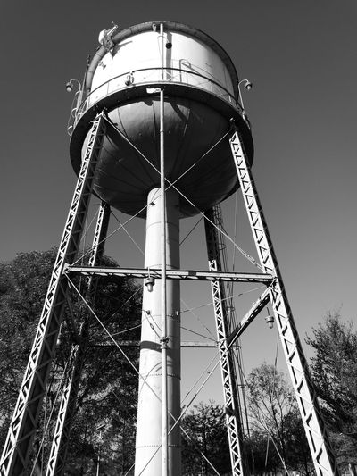Tinaco Built Structure Architecture Low Angle View Sky Watertank No People Blackandwhite