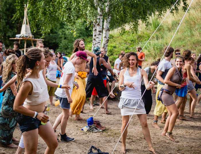 Enjoy life outside and with good vibes! International Women's Day 2019 Leisure Activity Women Day Outdoors Festival Summer Music Party