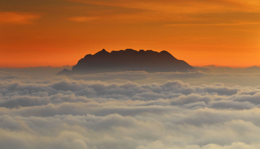 ASIA Cool Thailand Above Background Beauty In Nature Cloud - Sky Cloudscape Dramatic Sky Idyllic Majestic Mist Mountain Mountain Peak Nature Orange Color Outdoors Scenics - Nature Season  Silhouette Sky Sunset Tranquil Scene Tranquility Travel Destinations