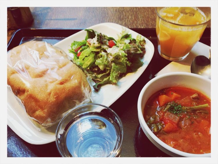 Lunch after farmers market Vegan Fresh Ingredients
