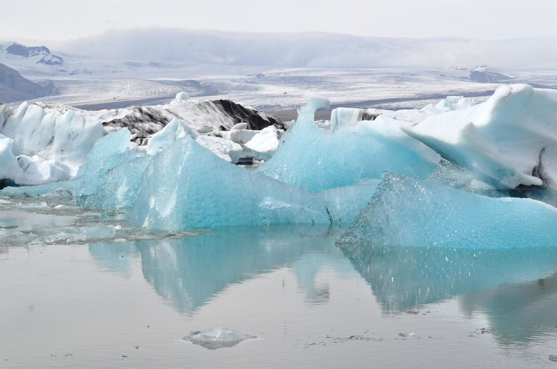 Glacier lagoon in Iceland Beauty In Nature Cold Temperature Day Environment Frozen Frozen Water Glacier Ice Lagoon Melting Nature No People Outdoors Scenics - Nature Snow Water