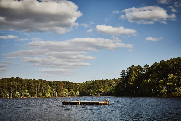 SUMMER Photo Of The Day Summertime Landscape Clay Hayner Photo Texas Lake View Lake Sky Cloud - Sky Tree Plant Nautical Vessel Transportation Nature No People Outdoors Waterfront