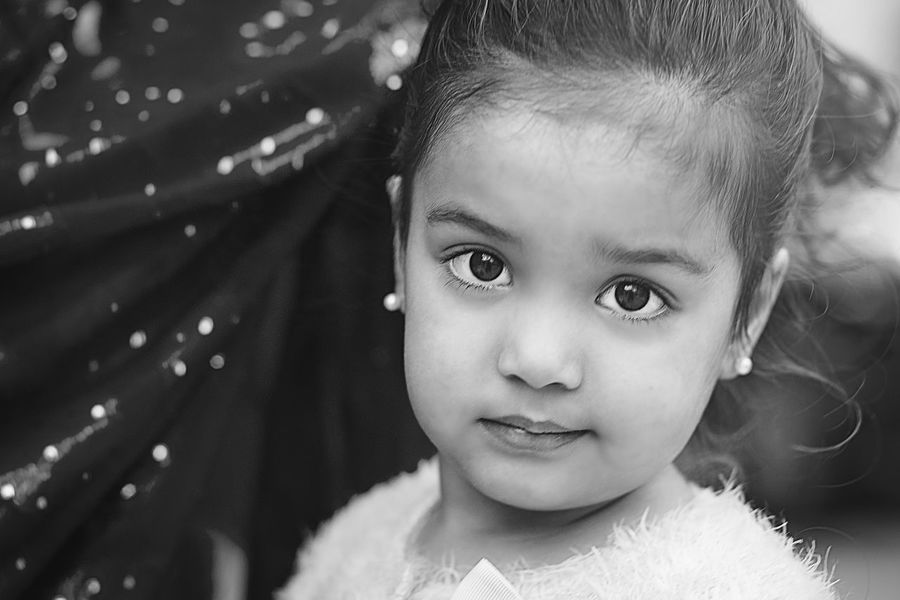 Sweet, child expression Black And White Collection  Black And White Portrait Blackandwhite Photography Blancoynegro Child Expression Close-up Curiousity Cute Day Focus On Foreground Headshot Human Face Leisure Activity Lifestyles Portrait Selective Focus Showcase April The Portraitist - 2016 EyeEm Awards Everyday Emotion