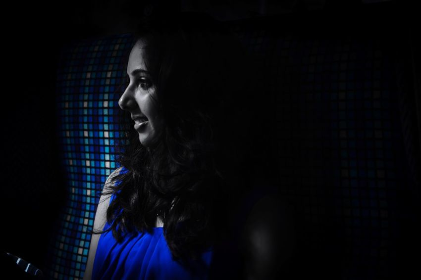 My blue lady Blue Lady Young Women Young Adult Indoors  Headshot Beauty Black Background Person Traveling Train London Lakedistrict Ambleside Withfamily Mymodel Mywife My Love
