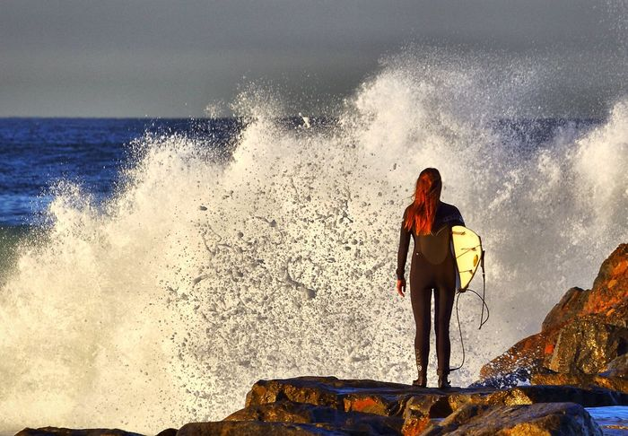 Unfiltered surfer girl Surfing Surfer Surfer Girl El Porto Beach EyeEm Nature Lover Check This Out Waves Crashing Waves, Ocean, Nature Waves And Rocks Crashing Waves  Surf's Up