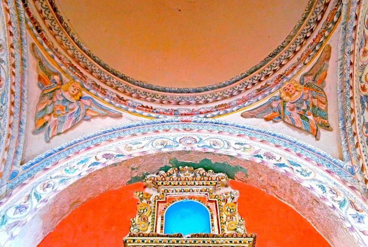 👼🏻🏥 ancient hospital ceiling🏥👼🏽 Baroque Baroque Architecture Angels Beautiful Architecture Built Structure Low Angle View Place Of Worship Indoors  Laviniafenton EyeEm Gallery EyeEm Best Shots Interior Cajamarca-Perú Ancient