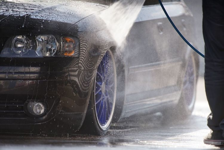 Audi A3 Airride Low Carwash