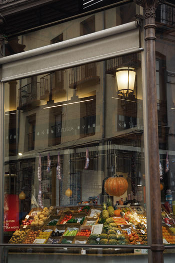 Autumn in Madrid Market Autumn Fall Glass Window Pumpkin Halloween Fruits Vegetables Moody Urban Old Town Linas Was Here Autumn Mood