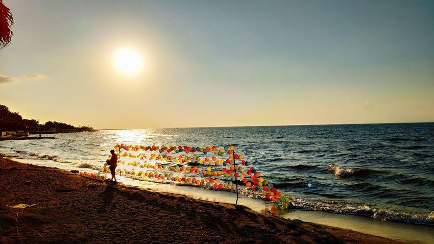Balonlar Yalovasahili Yalova Baloons Sunset Günbatımı Water Sea Beach Sunset Sand Sky Horizon Over Water