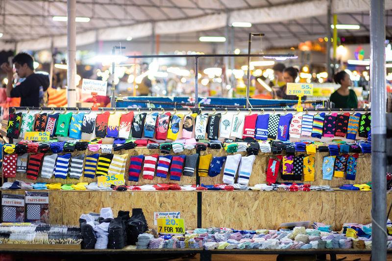 Socks for sale at market