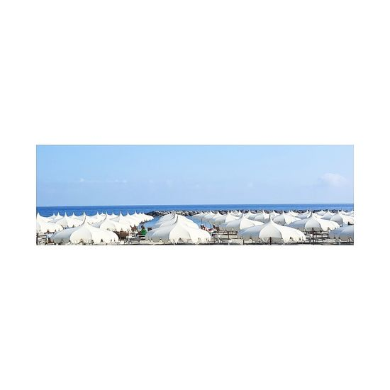 Sea Blue Beach Clear Sky Sky Vacations Horizon Over Water Holiday Parasols, Beach, Cafe, Shade, Rest, Summer
