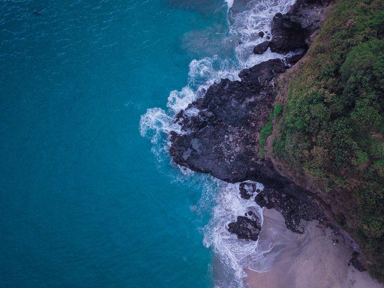 Beach near Villa Hantu Beach Beauty In Nature Blue Lombok Nature No People Rock Sea Water The Great Outdoors - 2018 EyeEm Awards
