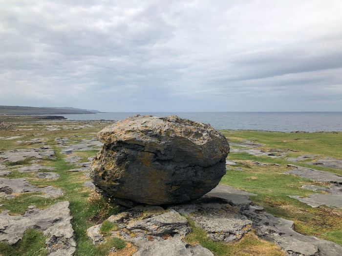 The Burren Ireland🍀 Sky Sea Land Beach Water Cloud - Sky Rock Horizon Solid Tranquility Horizon Over Water Rock - Object Day No People Nature