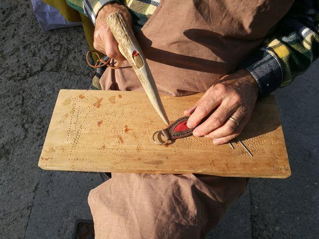 Leather craftsman at work Artisan Craftsman Hand Handmade Keyring Leather Manual Worker Work