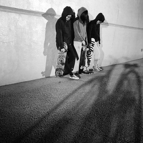 Real People Full Length Leisure Activity Lifestyles Day Women Men Togetherness Girls Skater Skateboard Indoors  Skateboarding Sk8