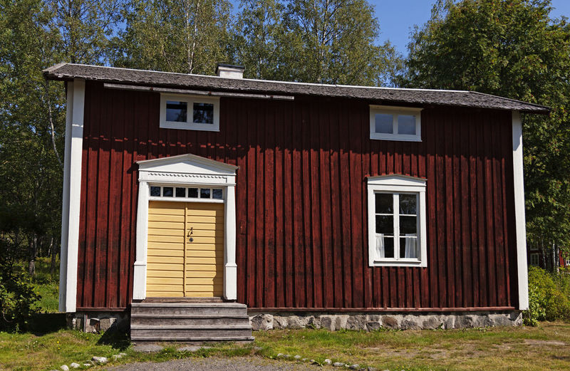 Old house on a museum site in umea, so they lived more than a hundred years ago