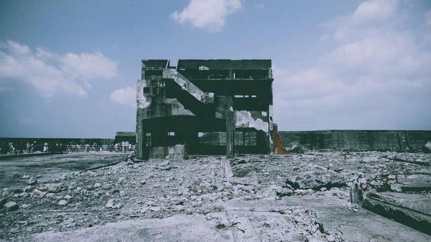 Abandoned Abandoned Buildings Abandoned Places Architecture Building Exterior Built Structure Cloud - Sky Day Destroyed Hashima Japan Japan Photography No People Outdoors Ruins Urban
