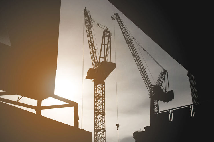Built Structure Crane Crane - Construction Machinery Day Development Industry Machinery No People Outdoors Silhouette Sky Tall - High