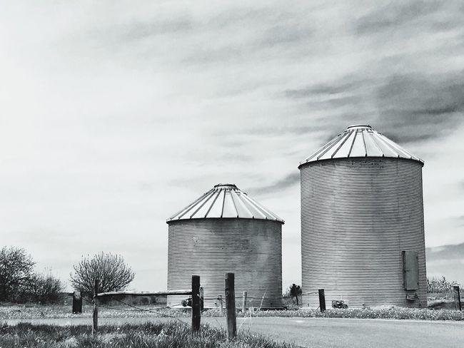 EyeEmNewHere Agriculture Silo Farm Farm Life Monochrome Black & White